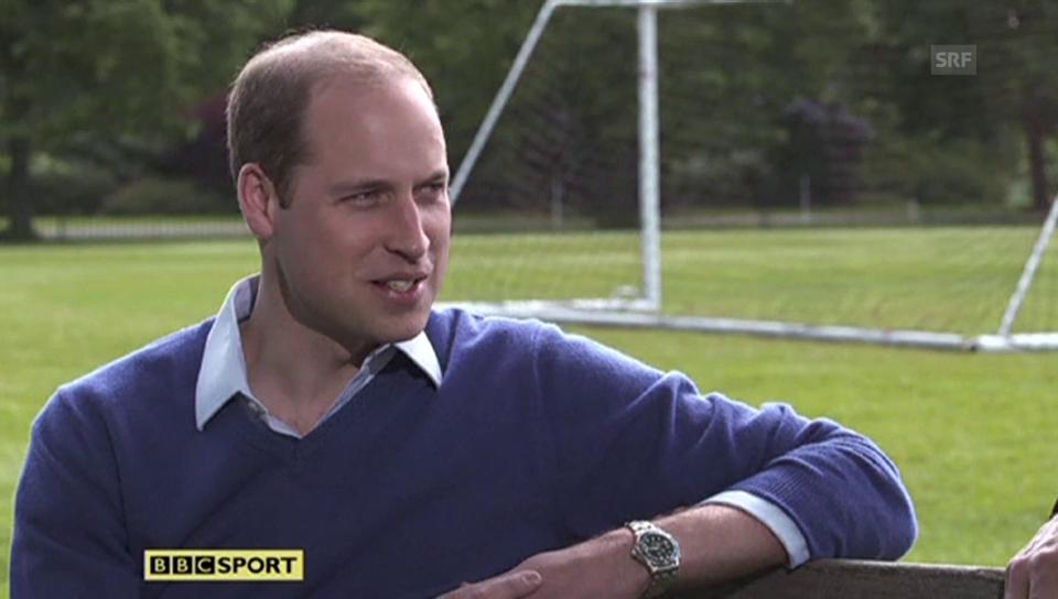 Fussballfan Prinz William