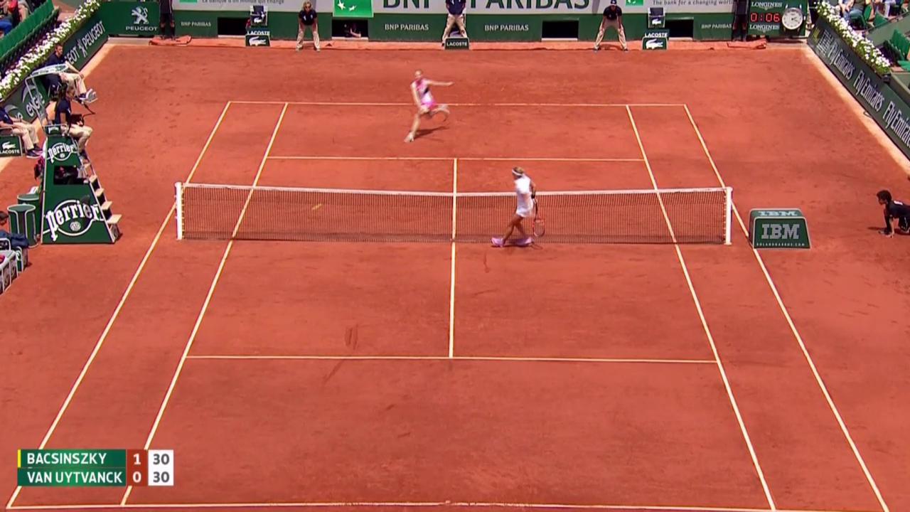 Tennis: French Open, Van Uytvancks Stopp und Bacsinszkys Kontrastopp