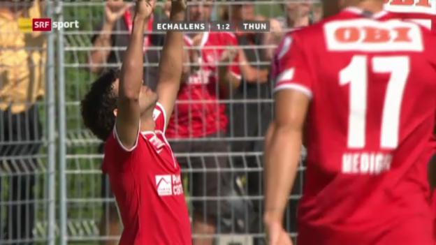 Video «Cup: Echallens-Thun («sportpanorama»)» abspielen