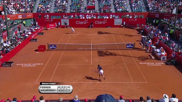 Tennis: Final Ferrer-Wawrinka in Buenos Aires