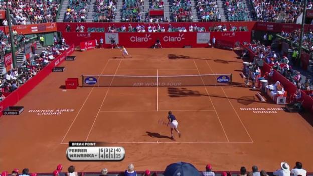 Video «Tennis: Final Ferrer-Wawrinka in Buenos Aires» abspielen