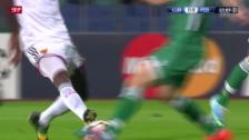 Video «Fussball: CL, Ludogorets-Basel, rote Karte Serey Die» abspielen