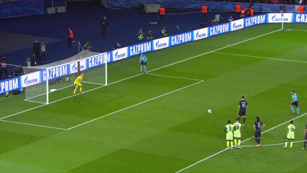 Video «Zlatan Ibrahimovic veschiesst im CL-Viertelfinal gegen Manchester City einen Penalty» abspielen