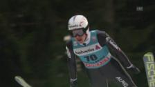 Video «Skispringen: Weltcup, Engelberg, 2. Sprung Ammann» abspielen