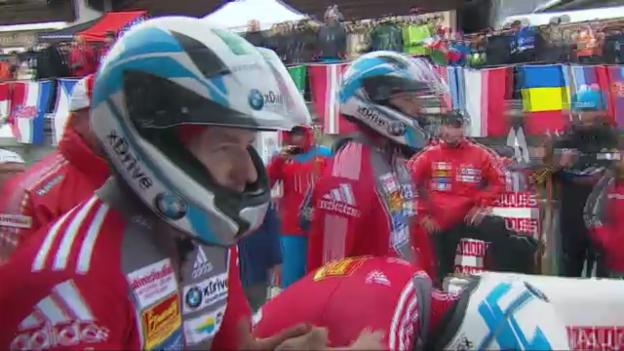 Video «Vierer-Bob-WM: 4. Lauf von Rico Peter («sportlive»)» abspielen