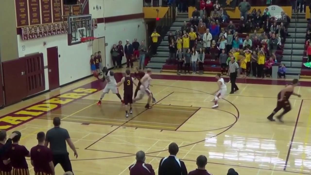 Basketball: Verrückter «Buzzer Beater» (Quelle: SNTV)