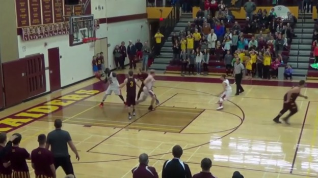 Video «Basketball: Verrückter «Buzzer Beater» (Quelle: SNTV)» abspielen