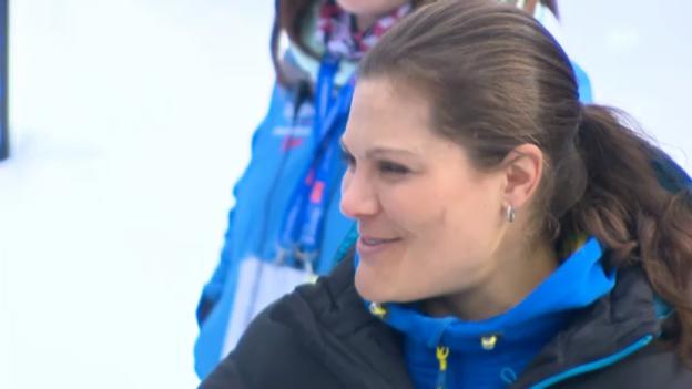 Video «Kronprinzessin Victoria an der nordischen Ski-WM» abspielen