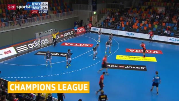 Video «Handball: Champions League, Kadetten Schaffhausen - Aalborg» abspielen