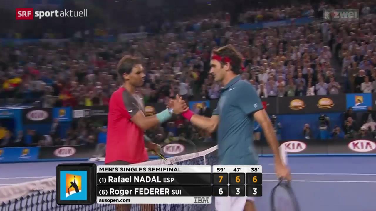 Tennis: Halbfinal Nadal - Federer