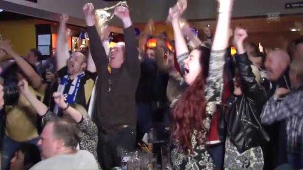 Video «Ganz Leicester jubelt über den Meistertitle der «Foxes»» abspielen