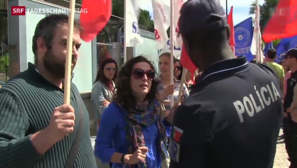 Portugals Volk weiterhin unzufrieden