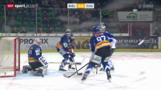 Video «Eishockey: Biel-Zug» abspielen