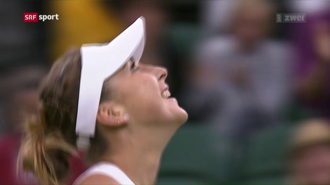 Bencic startet erfolgreich ins Wimbledon-Turnier