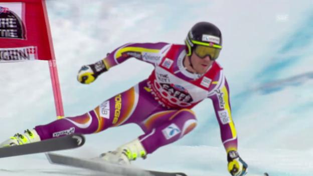 Video «Ski: 2. Training Lauberhorn, Fahrt Jansrud» abspielen