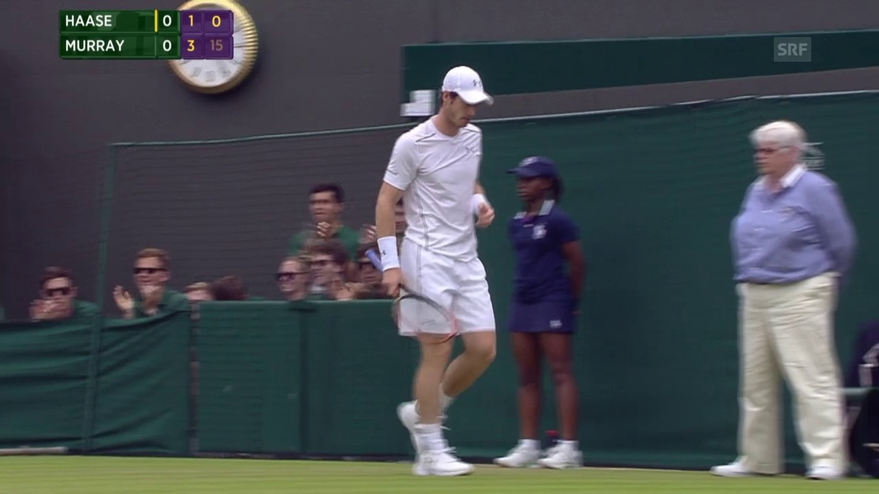 Tennis: Wimbledon, Winner von Murray aus der Defensive