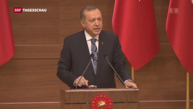 Video «Verfassungsreform durchs türkische Parlament» abspielen
