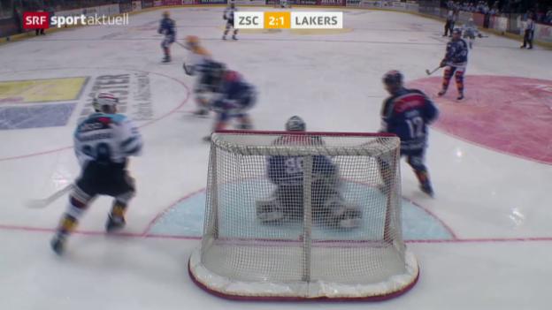 Video «Eishockey: NLA, ZSC - Lakers» abspielen