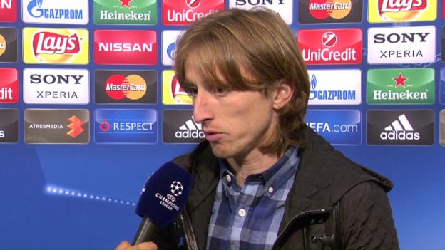 Video «Modric: «Wir mögen es auf die schwierige Tour» (in englisch)» abspielen