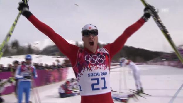 Video «Sotschi: Langlauf, Skiathlon, Zusammenfassung Skiathlon» abspielen