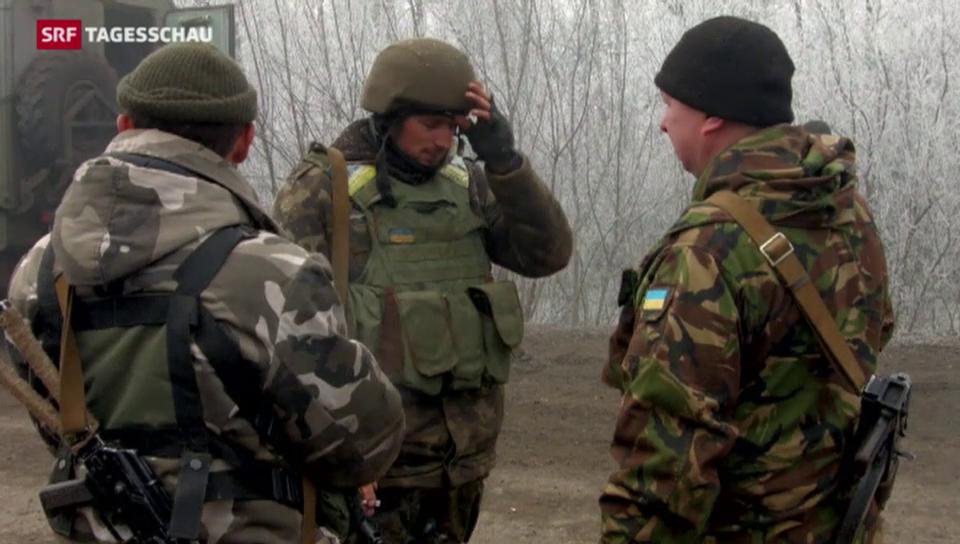 Waffenruhe in der Ukraine seit Mitternacht