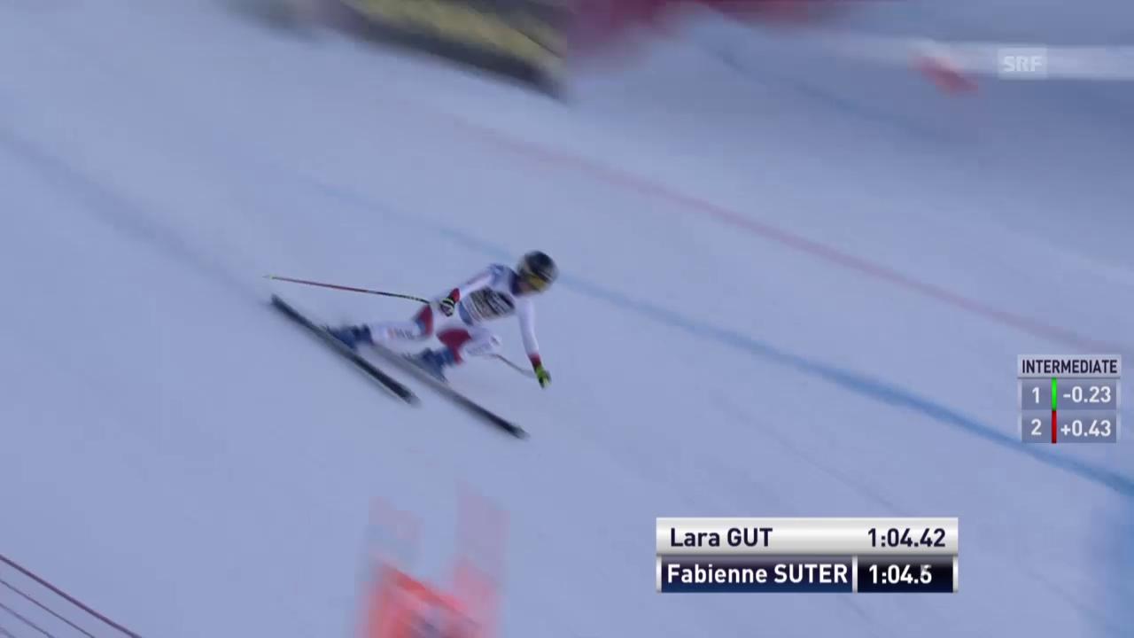 So gewann Lara Gut die Abfahrt in La Thuile