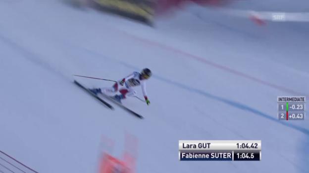 Video «So gewann Lara Gut die Abfahrt in La Thuile» abspielen