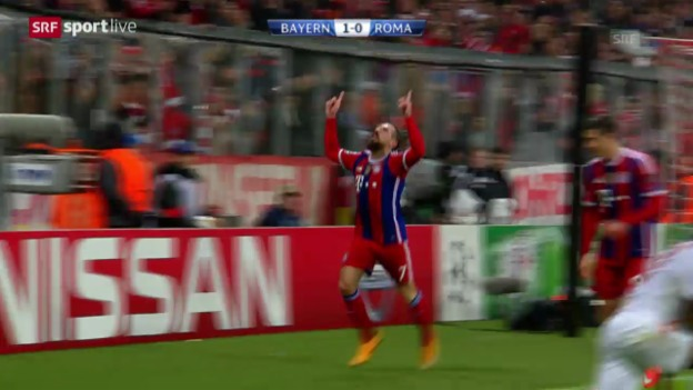 Video «Fussball: Zusammenfassung Bayern - Roma» abspielen