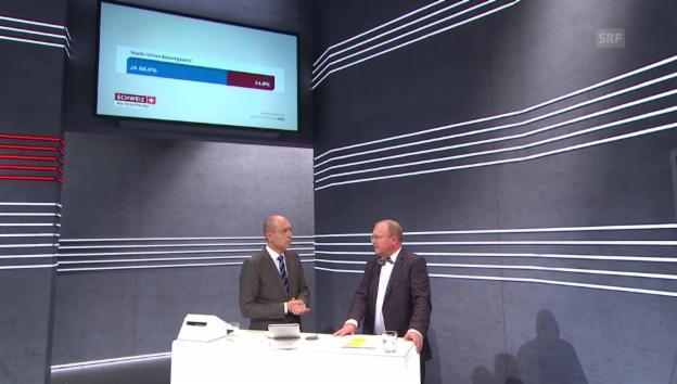 Video «Analyse Longchamp zur Zustimmung des Nachrichtendienst-Gesetzes» abspielen