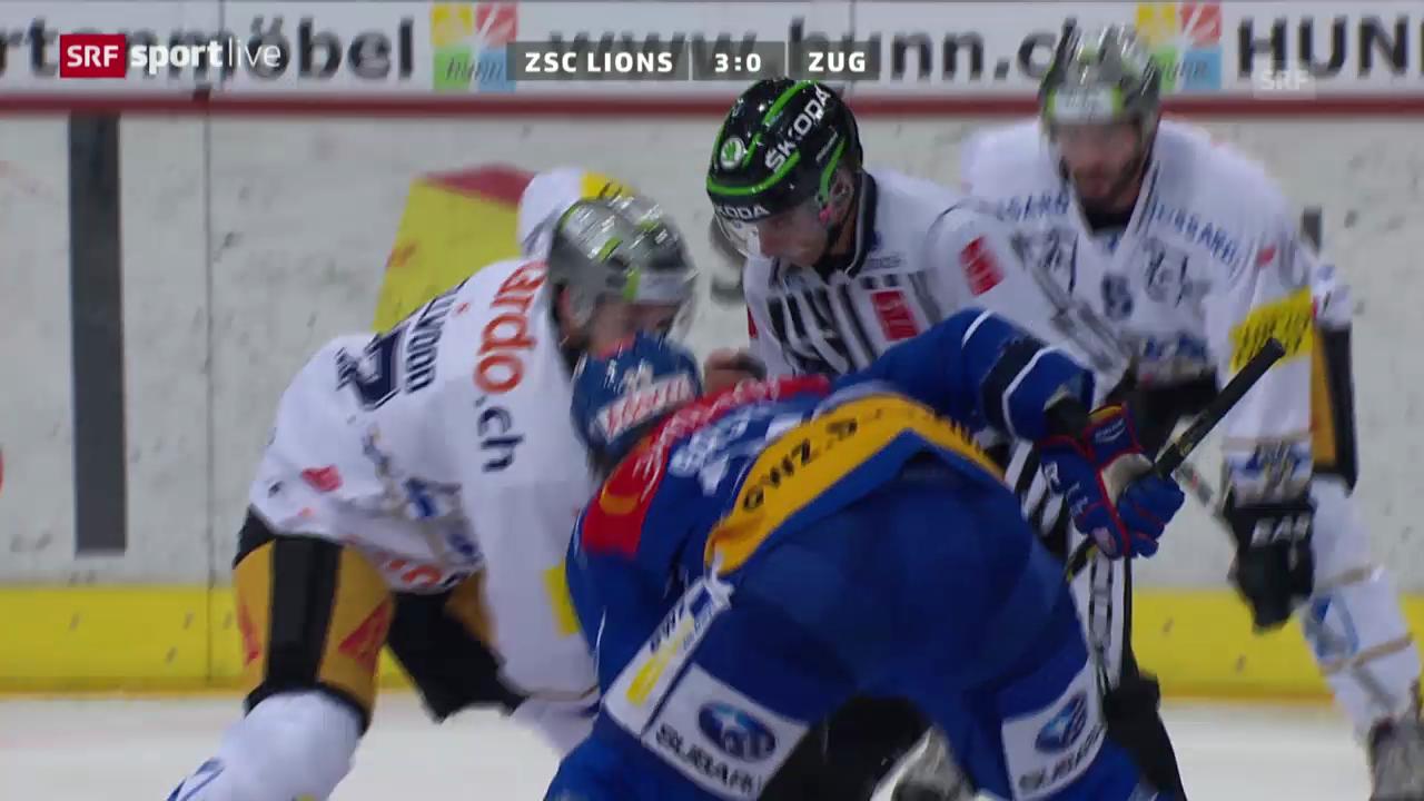 Eishockey: Spielbericht ZSC Lions - Zug («sportlive»)