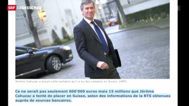 Video «Cahuzac wollte 15 Millionen in der Schweiz verstecken» abspielen