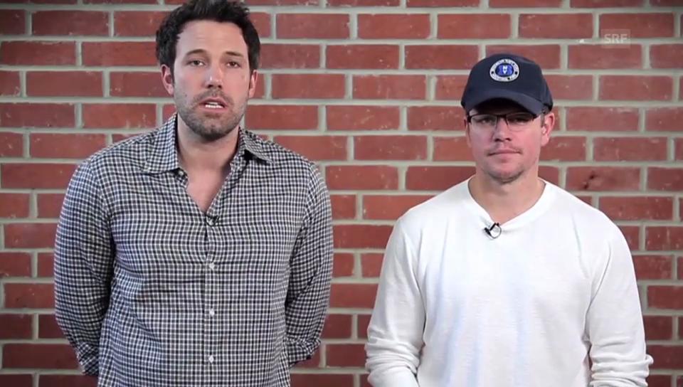 Ben Affleck und Matt Damon verlosen ein Doppel-Date