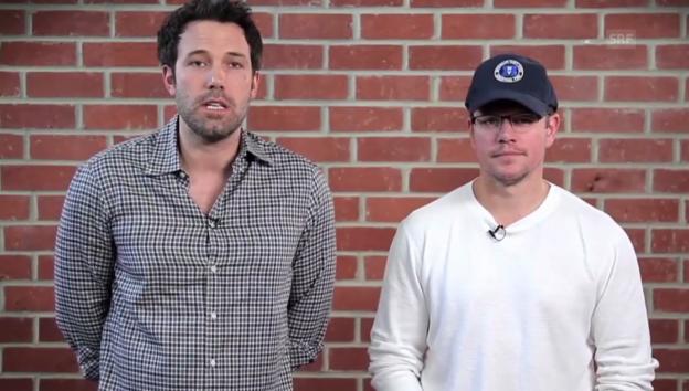 Video «Ben Affleck und Matt Damon verlosen ein Doppel-Date» abspielen