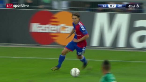 Video «Basel reibt sich an der Schalke-Verteidigung auf.» abspielen