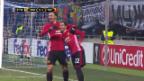 Video «Manchester United lässt gegen Lugansk nichts anbrennen» abspielen