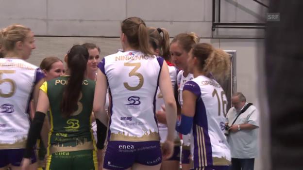 Video «Volleyball: Köniz - Volero: Satz- und Matchbälle» abspielen