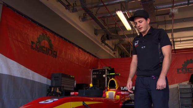 Video «GP2 vs. Formel 1: Fabio Leimer erklärt die Unterschiede» abspielen