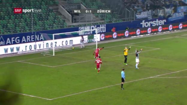 Video «Cup: Wil - Zürich» abspielen
