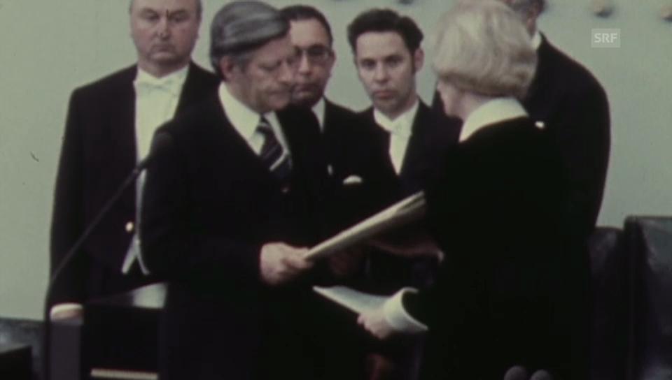 Vereidigung von Bundeskanzler Helmut Schmidt (1974)