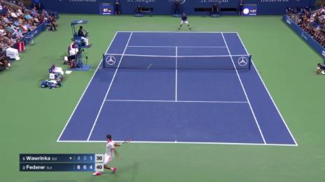 Video «Tennis: US Open, Wawrinka - Federer, Highlights Satz 3» abspielen
