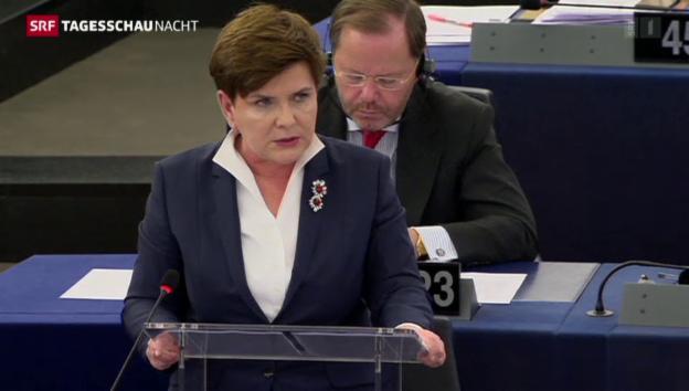 Video «Haue für Polens Regierungschefin» abspielen