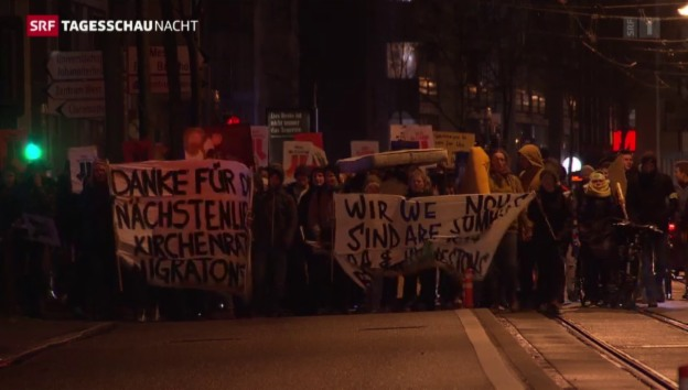 Video «Demonstration in Basel» abspielen