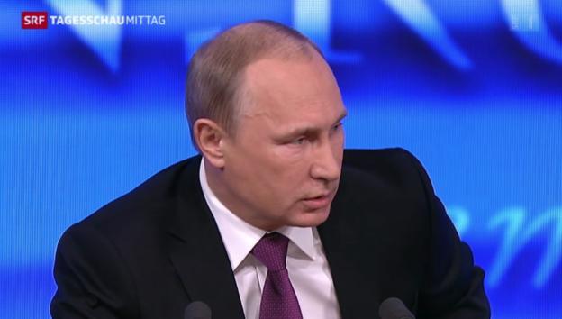 Video «Putin zeigt sich optimistisch» abspielen