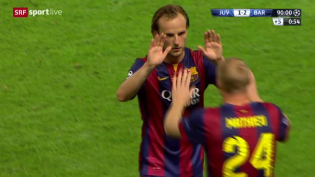 Video «Fussball: CL-Final, Rakitic Auswechslung» abspielen