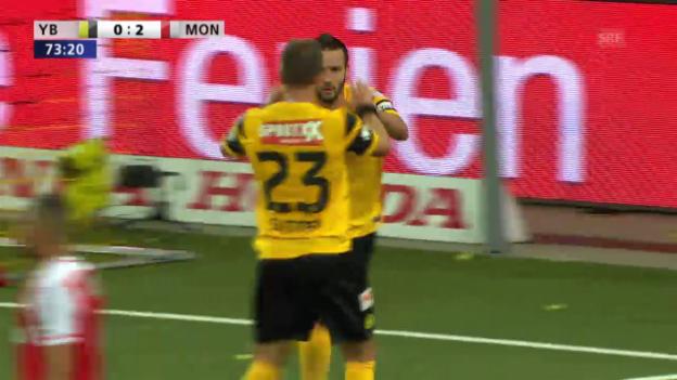 Video «Fussball: Champions-League-Qualifikation, Hinspiel, YB - Monaco, Nuzzolo verkürzt zum 1:2» abspielen