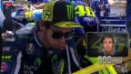 Video «Motorrad: Legende Valentino Rossi bei seinem 300. GP-Start» abspielen