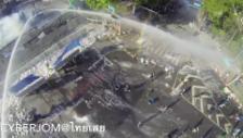 Video «Drohne filmt Ausschreitungen bei Regierungsgebäude (ohne Ton)» abspielen