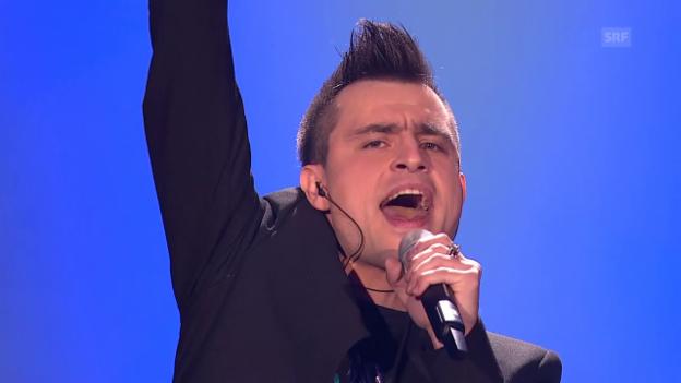 Video «Slowenien - Omar Naber mit «On My Way»» abspielen