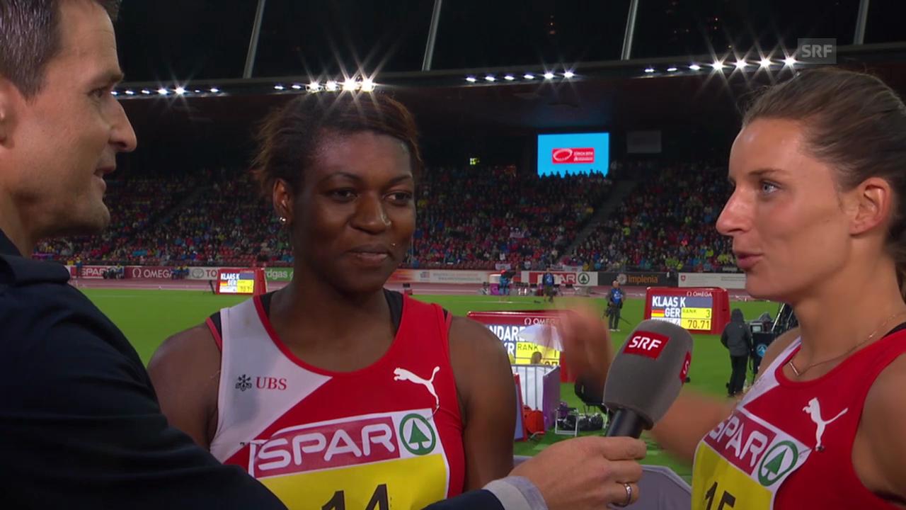 Leichtathletik-EM: Interview mit Reggel und Sprunger
