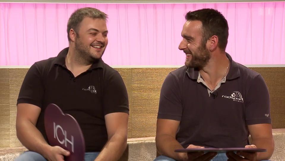 Radballer Roman Schneider und Dominik Planzer